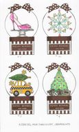 Mini Snow Globe Ornaments for Henri Bendel