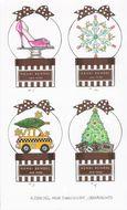 Mini Snow Globe Ornaments for Henri Bendel
