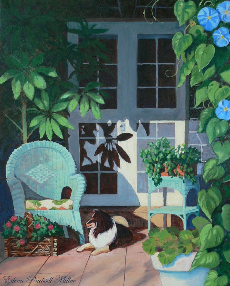 Eileen-Rudisill-MillerAbby's-Porch-oil-on-canvas