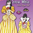 Glitter Snow White Sticker Paper Dolls