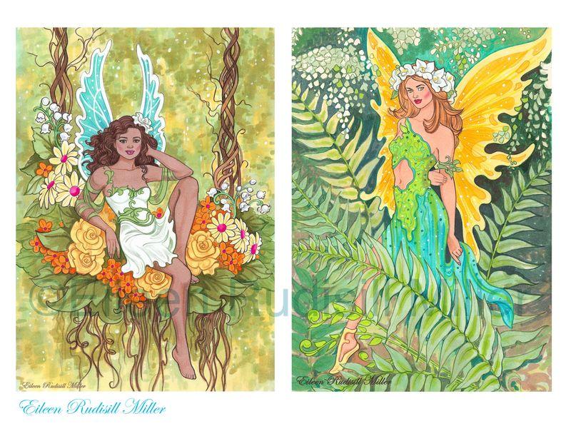 Fairy-postcard-book