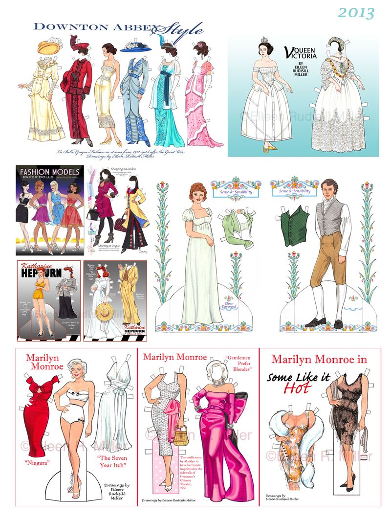 2013 paper doll year in review