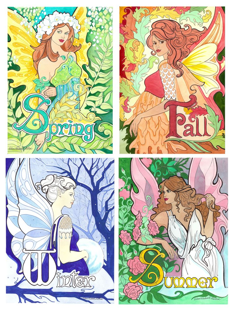 4 seasons fairies