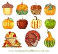 Ceramic Gourd Candleholders