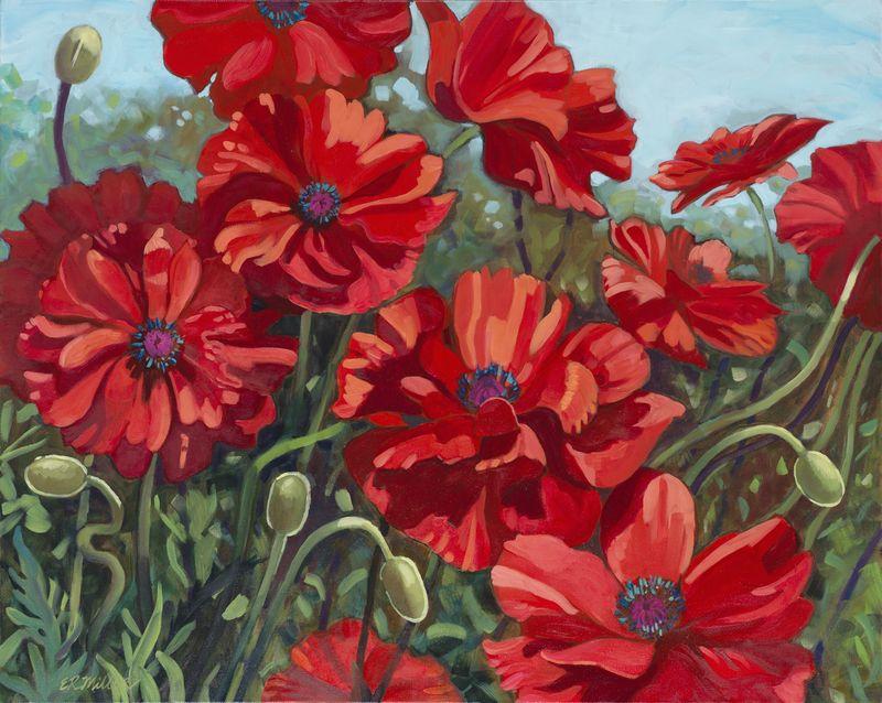 Red Flower 300 5x7