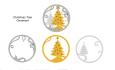 Layered Xmastree ornament