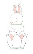 Bunny treat jar