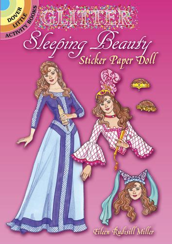 Glitter Sleeping Beauty Sticker Paper Dolls
