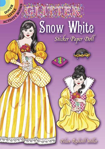 Glitter Snow White Sticker Paper Dolls
