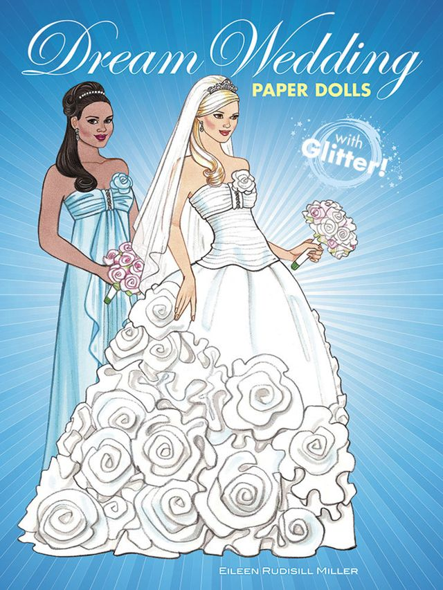 Dream Wedding Paper Dolls with Glitter