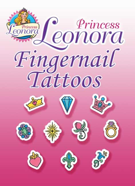 Princess Leonora Fingernail Tattoos