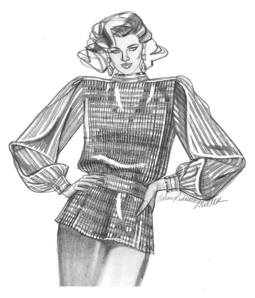 Fashion drawing silver shirt