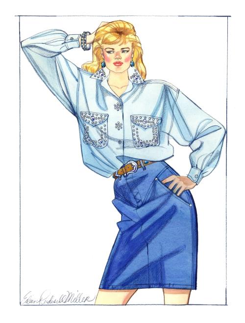 Fashion ill jean skirt