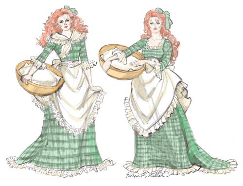 Irish Doll Drawings