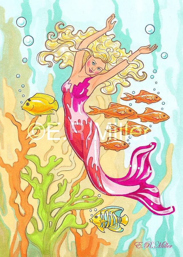 Magenta Mermaid