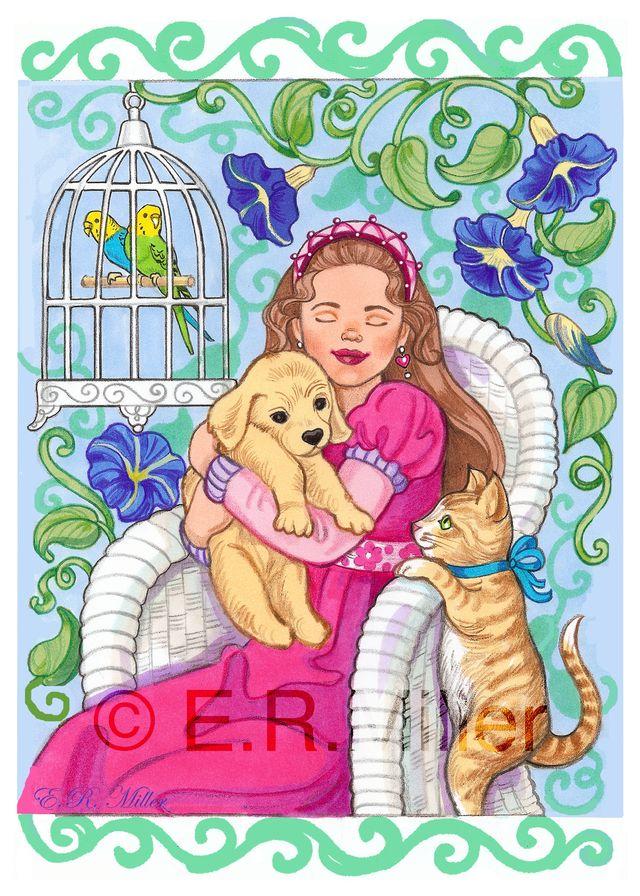 Princess with Pets