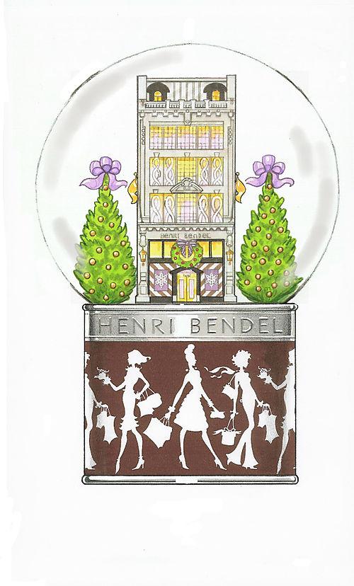 Christmas Snow Globe for Henri Bendel