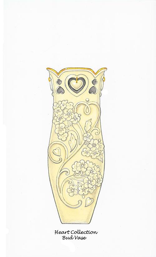 Floating Hearts Bud Vase for Lenox