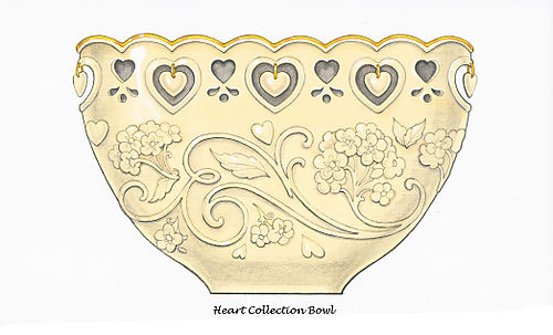 Floating Hearts Bowl for Lenox